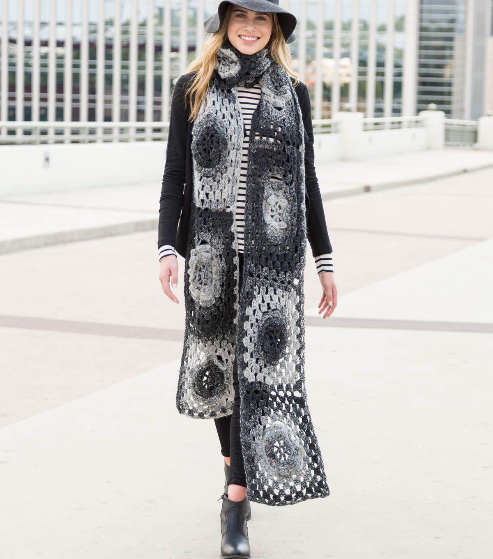 Granny Square Chic Super Scarf: FREE crochet pattern | Crochet 4 me ...