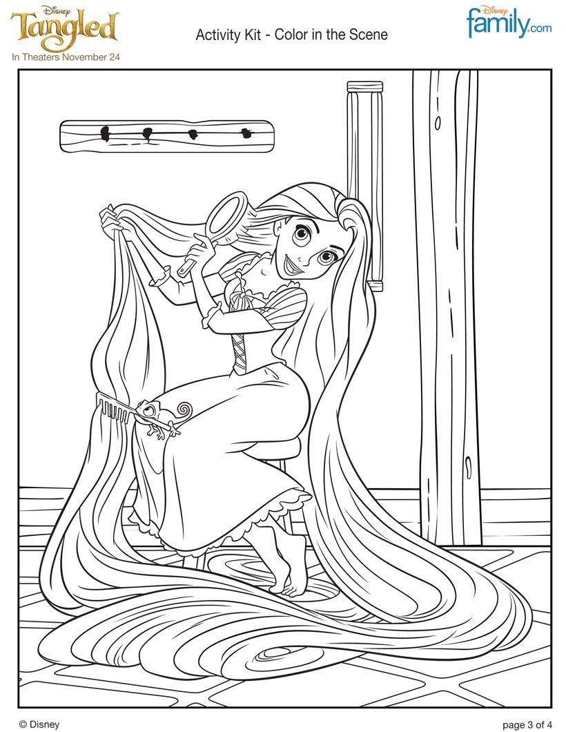 RAPUNZELS LONG HAIR Coloring Page