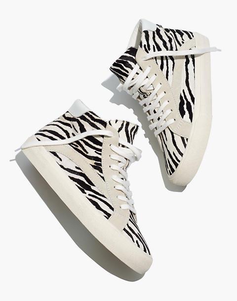 Sidewalk High Top Sneakers In Zebra Calf Hair In 2020 High Top