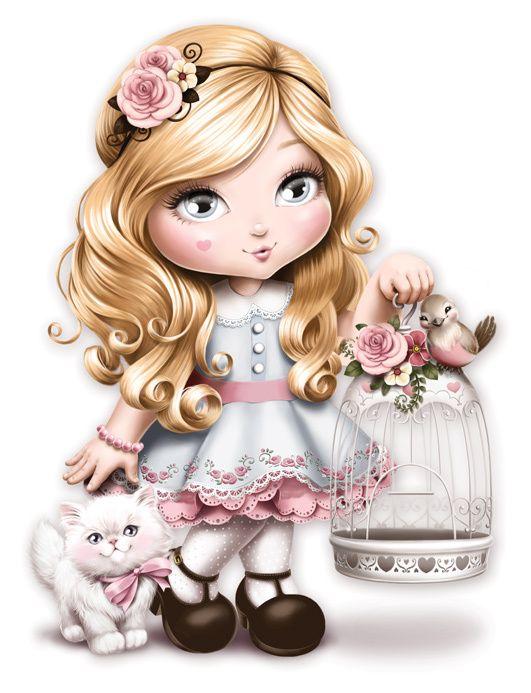 Кукла картинки красивые нарисованные