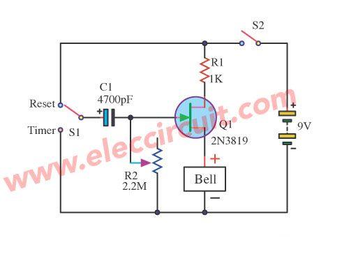 basic timer using fet 2n3819 circuits in 2019 self bias jfet phase shift oscillator electronic