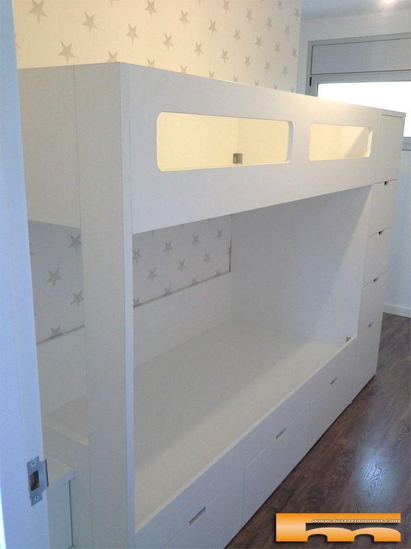 Litera escalera cajones habitaci n infantil luis - Escalera cama infantil ...