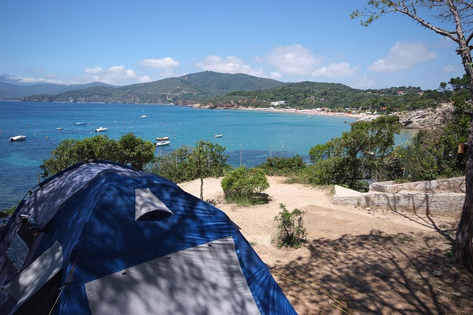 The camping directly on the sea Camping Village Le