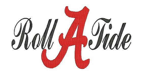 Alabama A Roll Tide Embroidery Design 35 Instant Download Tide Logo Roll Tide Images Roll Tide