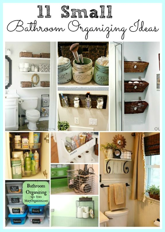 Bathroom storage on pinterest shabby chic decor small - Clever storage ideas for small bathrooms ...