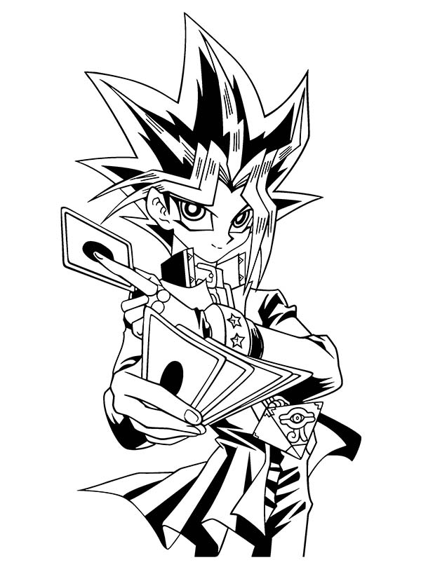 Yugi Muto Trump Card In Yu Gi Oh Coloring Page Netart In 2020 Coloring Pages Yugioh Art Reference Photos