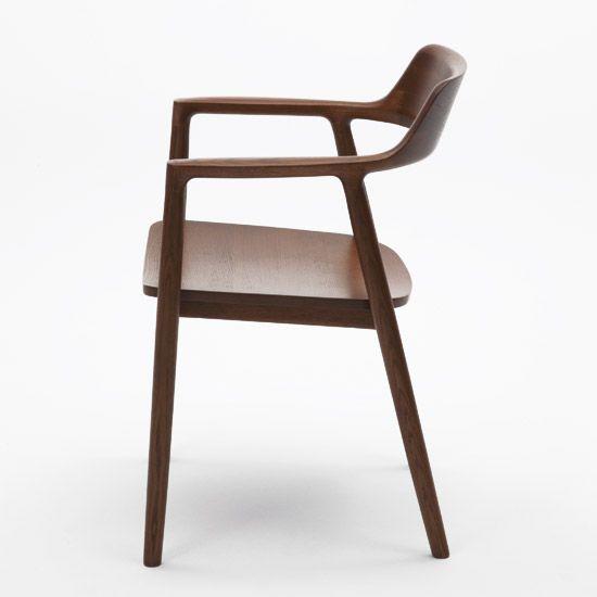 hiroshima arm chair' in brown by naoto fukasawa.   Small