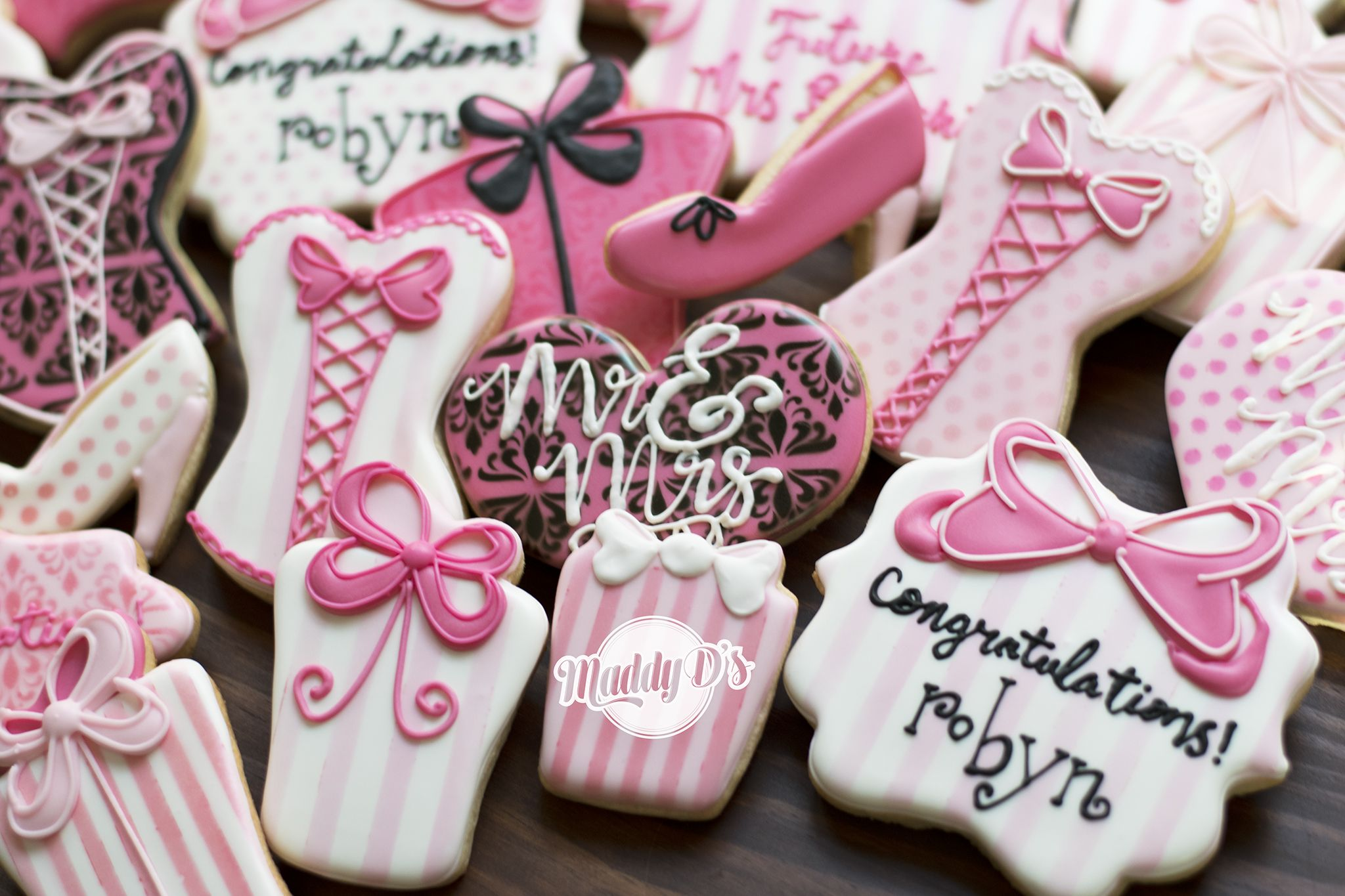 Bachelorette lingerie party theme. royal icing, decorated cookie ...