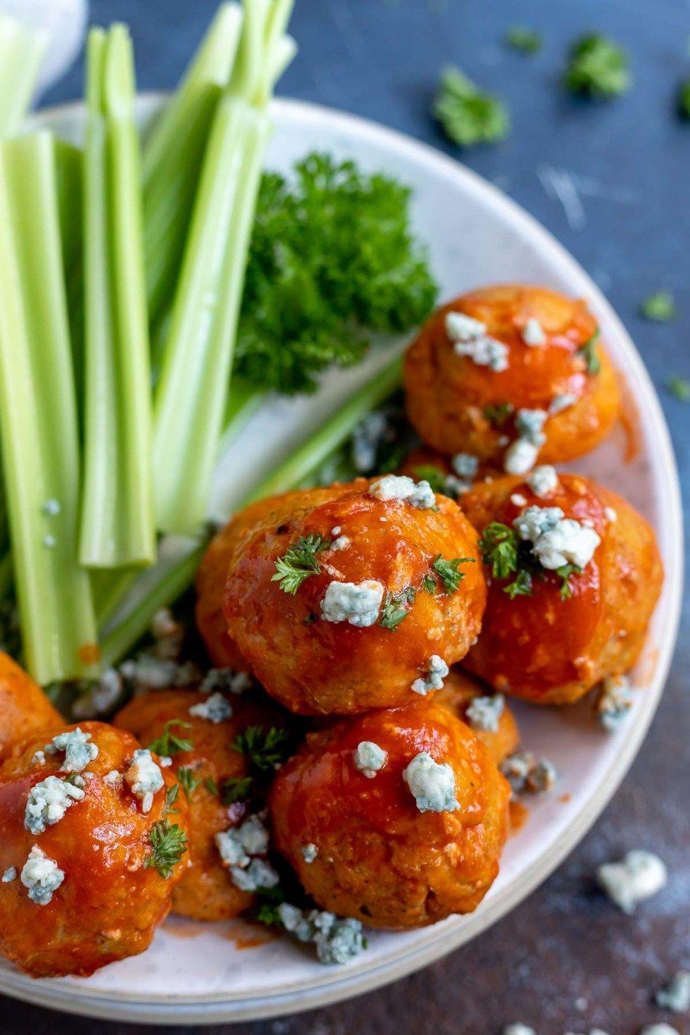 Pin on Buffalo chicken meatballs recipe