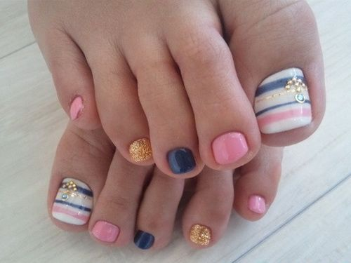 easy toe nail design ideas to do art home. Interior Design Ideas. Home Design Ideas