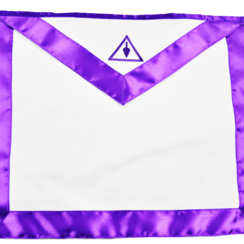 Cryptic Council with Purple Silk Apron   Masonic Cryptic