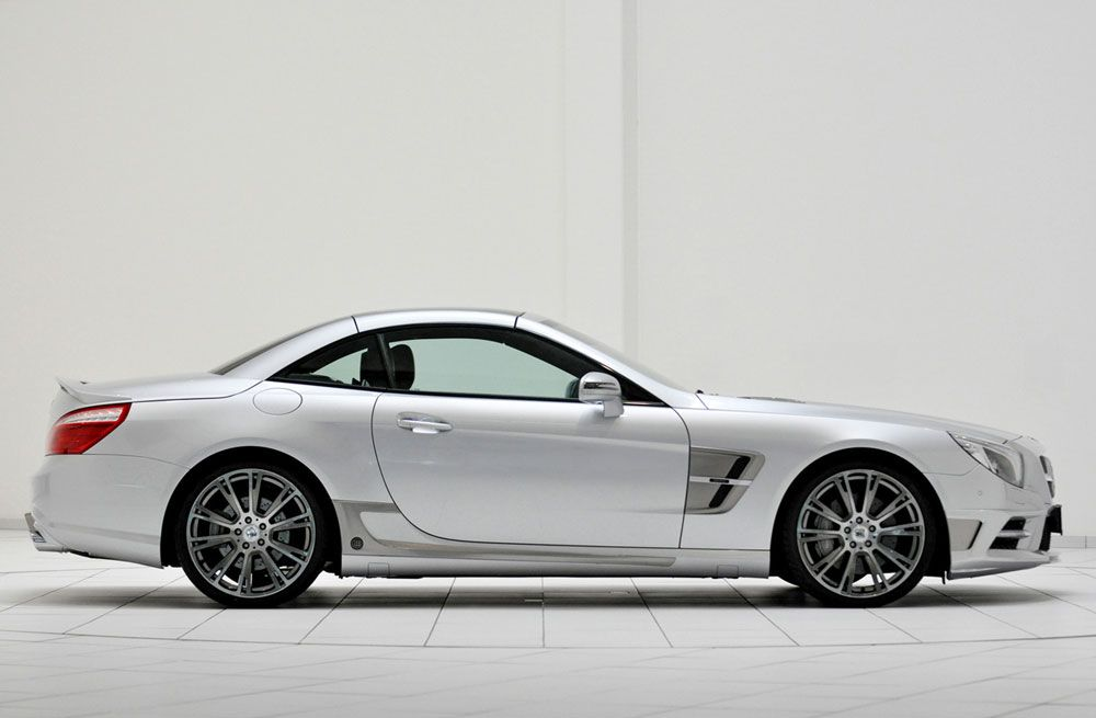 2012 Brabus Mercedes-Benz SL Roadster:  4.7 Liter V8 Twin Turbo, 512 Horsepower. 0 to 60 mph in 4.4 seconds. Top Speed of 186 mph.