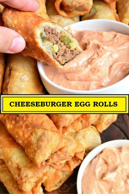 Photo of CHEESEBURGER EGG ROLLS . People will be climbing over each o…