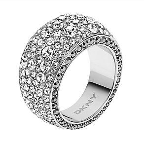 DKNY stainless steel stone set ring size M 1/2 - Product number 1384449