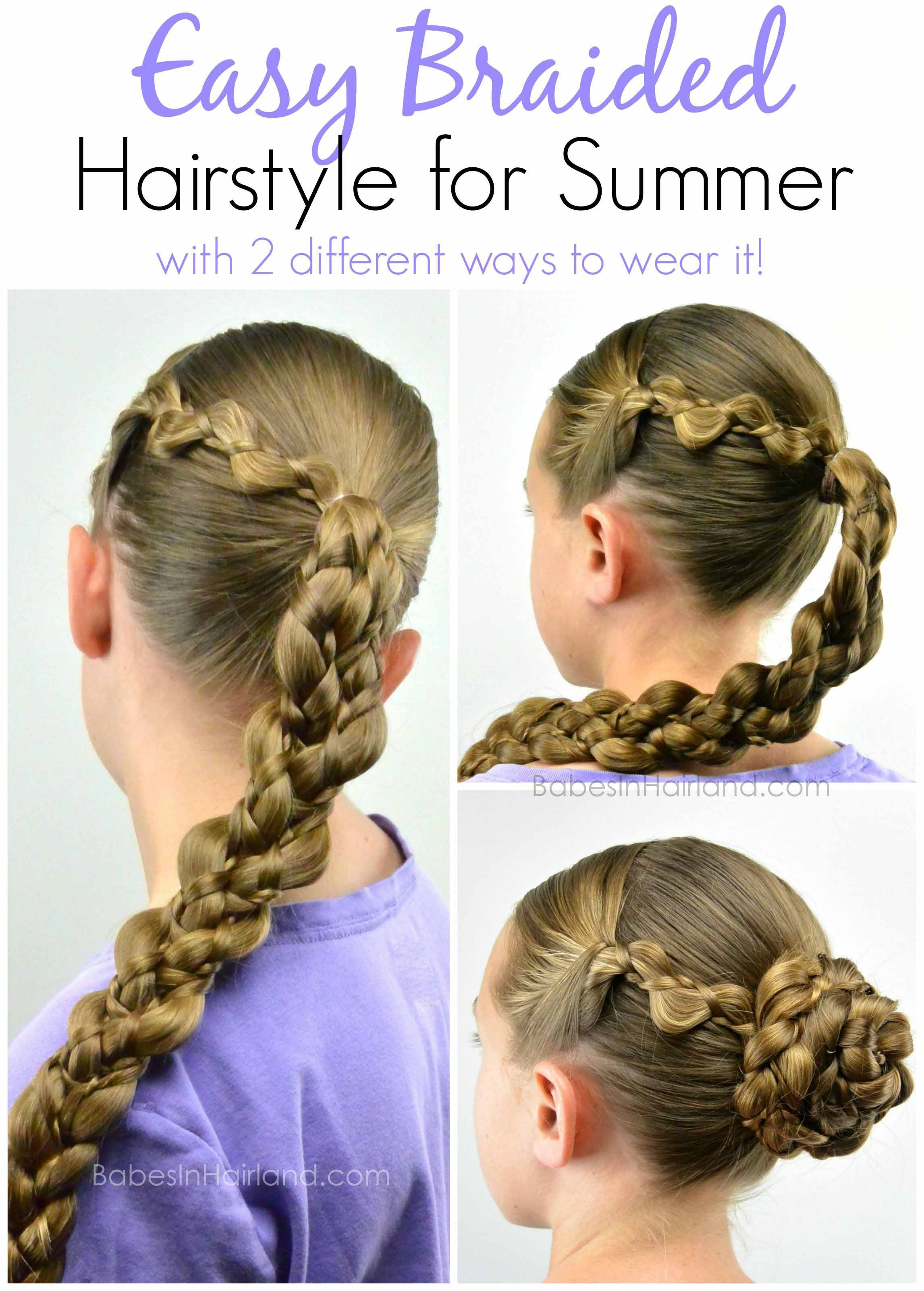 Easy Braided Hairstyle for Summer Pinterest