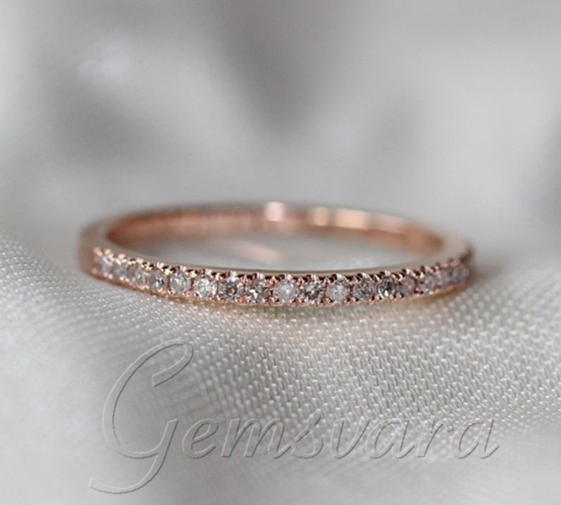 wedding band unique white gold wedding bands black wedding bands - Morganite Wedding Ring