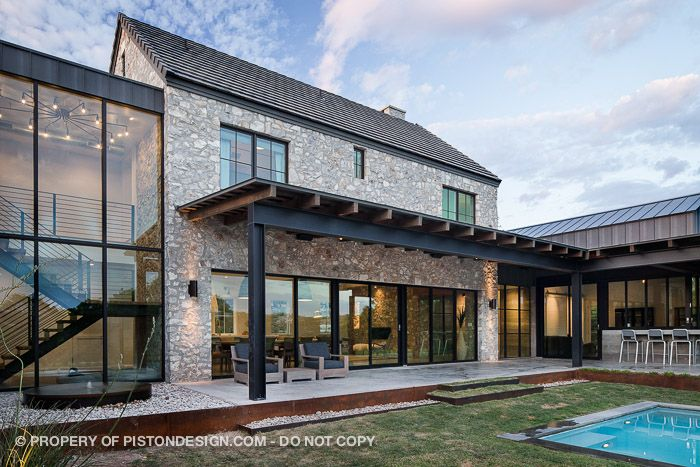 Contemporary farmhouse for the home pinterest for Industrial farmhouse exterior