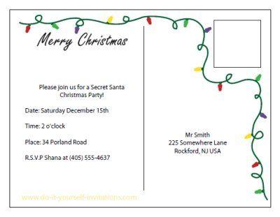 free printable christmas DIY Christmas, Holiday Party Invitations