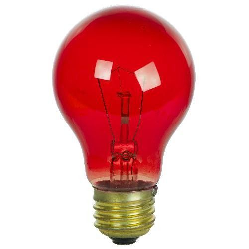 2pk Sunlite 25w A19 120v Transparent Red Medium Base Light Bulb Red Light Bulbs Lighting Light Bulb