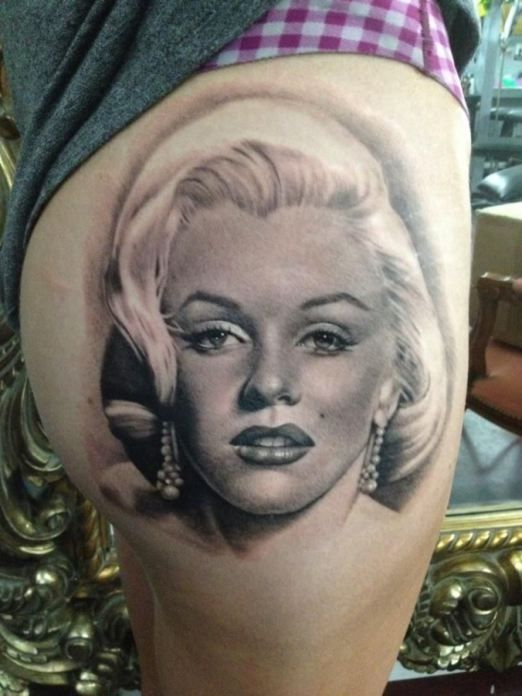 Marilyn Monroe Tattoos Marilyn Monroe Tattoo Portrait Tattoo Marilyn Monroe Portrait