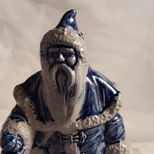 Santa Ceramic Rowe Blue Gray by WillowLaneGallery on Etsy