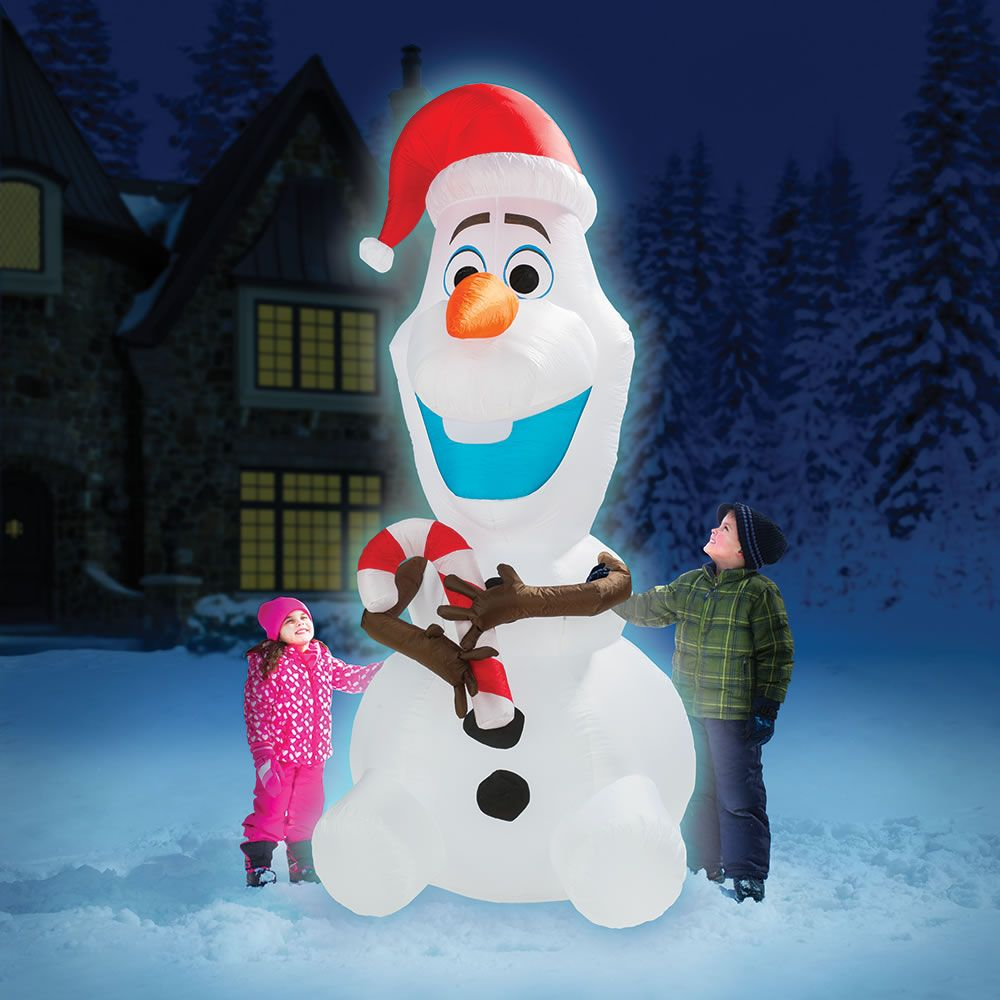 The 8\' Inflatable Olaf - Hammacher Schlemmer | Holidays | Pinterest ...