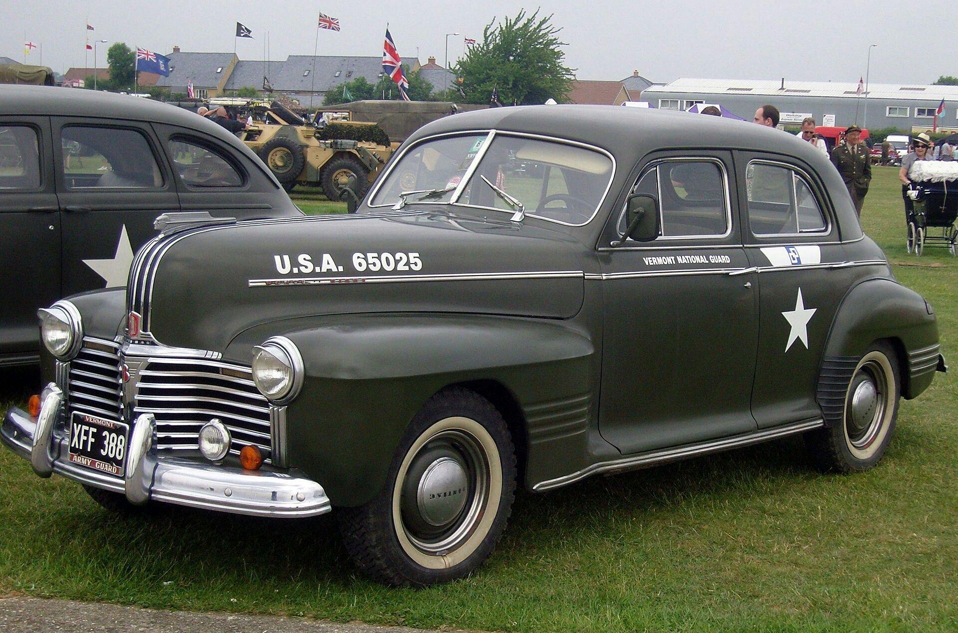 Pontiac torpedo four door staff car