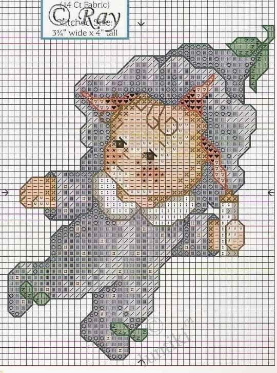 Цветочные детки (Flower babies) - схемы вышивки крестом ...