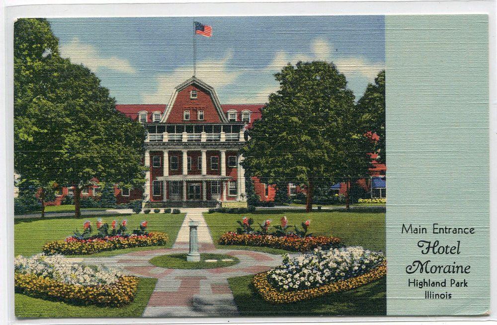 Main Entrance Hotel Moraine Highland Park Illinois 1949