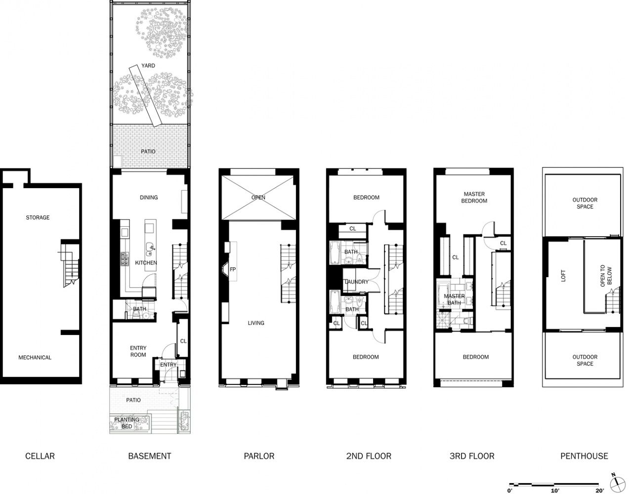 Image Result For Typical Townhouse Layout