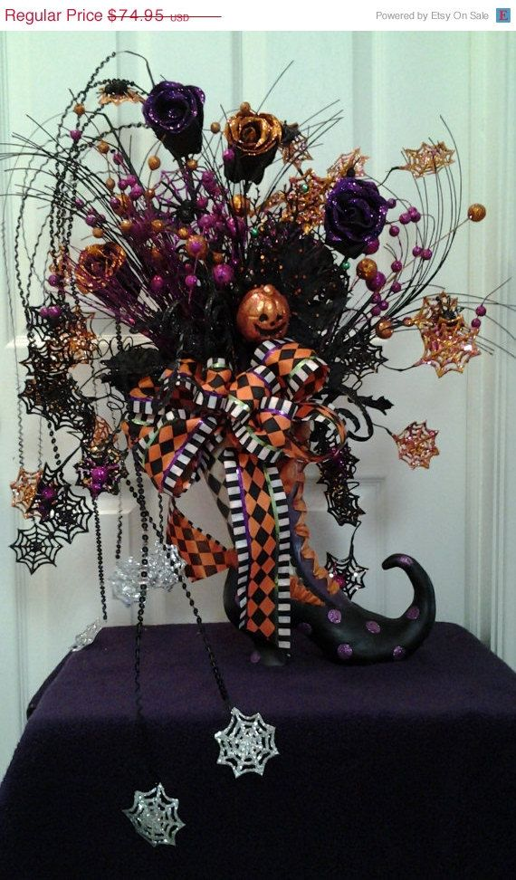 Witch Boot Decor, Witch Boot, Halloween Centerpiece, RAZM