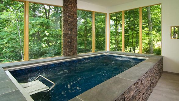 I would love to enclose our endless pool in a greenhouse for Swimming pool greenhouse