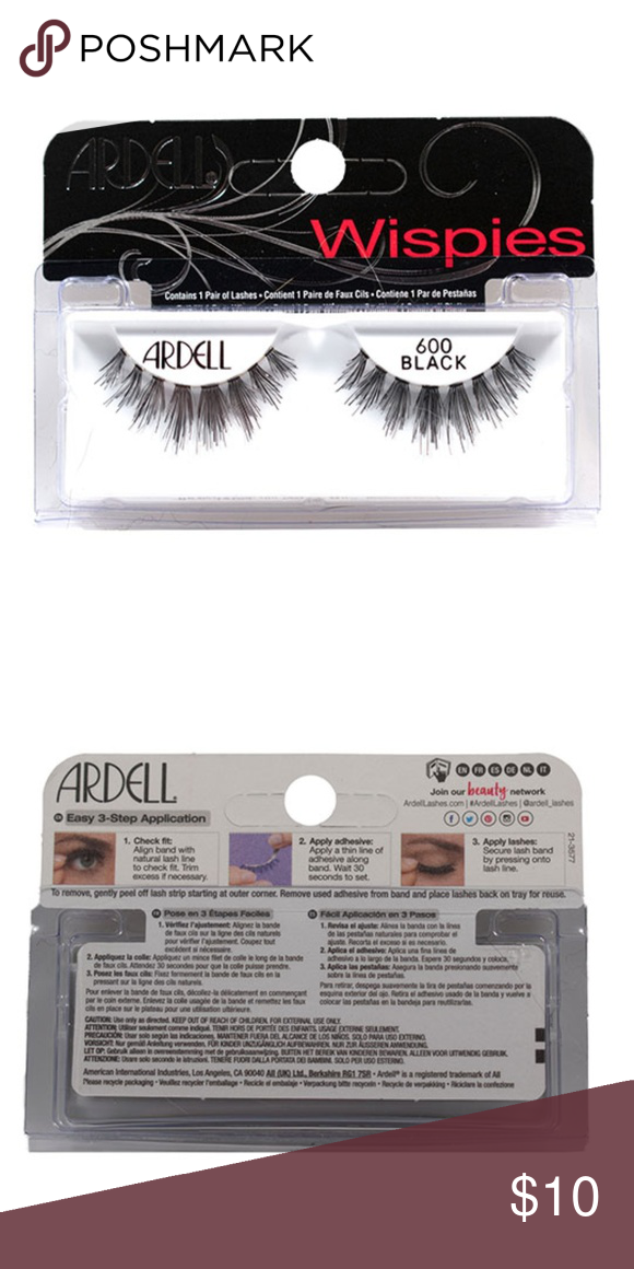 473a8ef9c42 Ardell Wispies Lashes Black 600 Brand New Style: Black 600 Brand: Ardell  Condition: