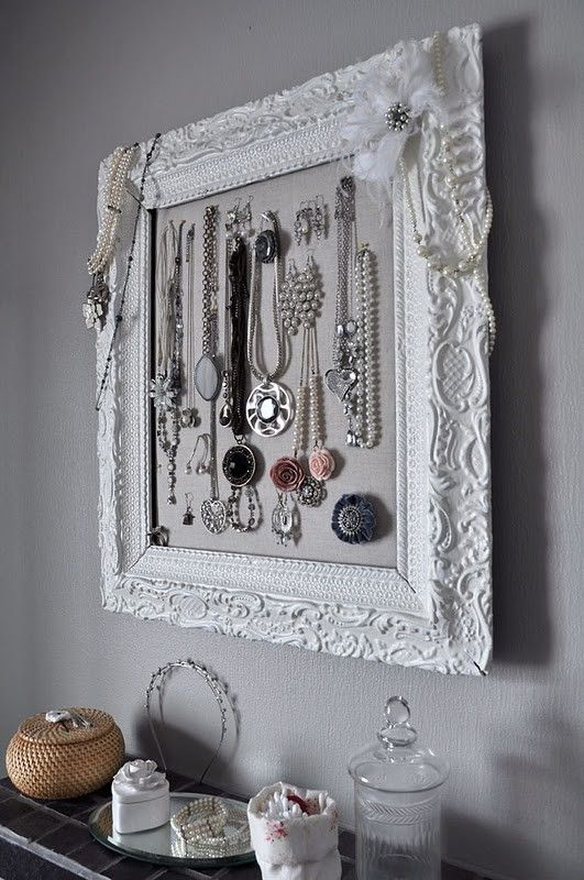 Creative Jewelry Organizer I so love this for all my really long