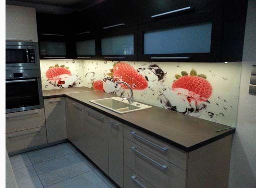 Ein richtiger Hingucker! Eine Küchenrückwand aus ESG Glas - küchenrückwand glas bedruckt