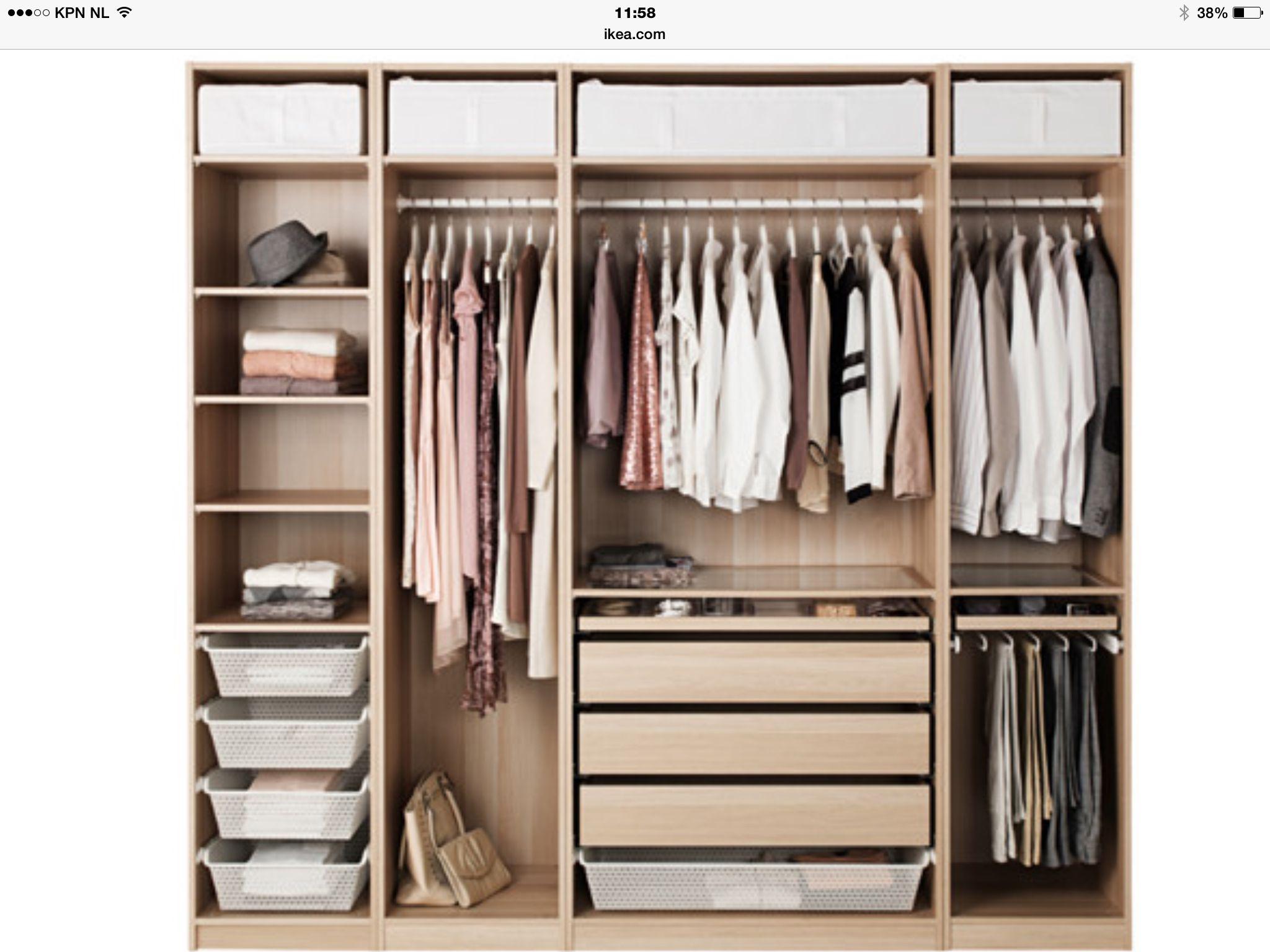 Pax Ikea House Decor Pinterest Organizar La Casa Ideas Para  ~ Interiores De Armarios Empotrados Ikea