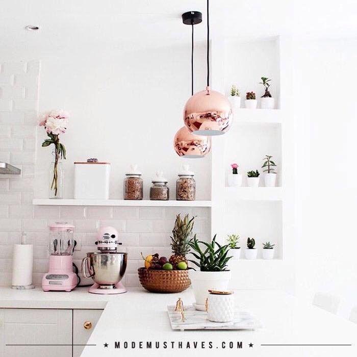 Moderne Küche Accessoires: Küche Mit Rosa Accessoires