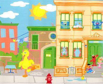 Sesame street room decorating ideas sesame street for Elmo wall mural