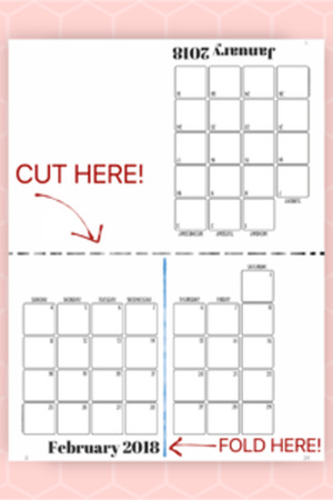 Here S A Quick And Easy Printable Giveaway For The New Year Print Your Own 2018 Calendar Datebook Personal Use Or Gift Giving