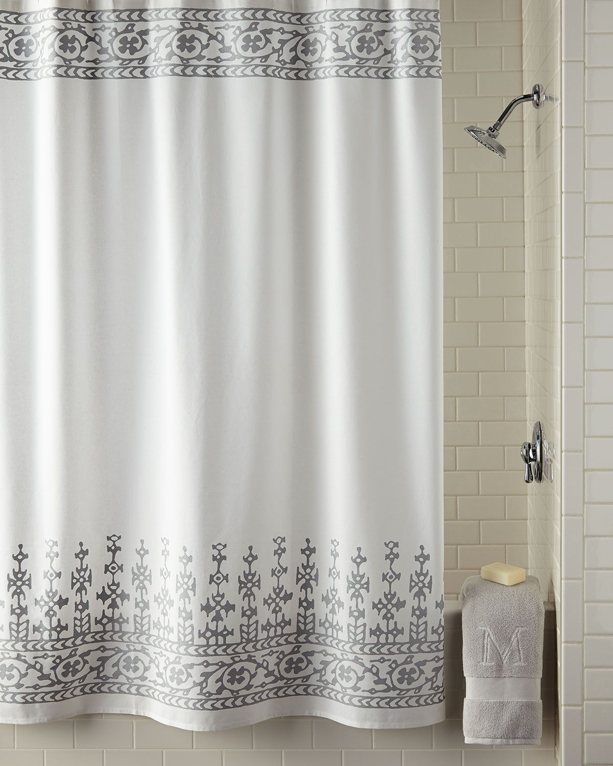 Pin On Grey Shower Curtains
