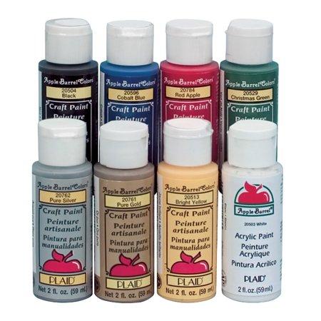 Apple Barrel Non Toxic Multi Purpose Acrylic Paint Set 2 Oz
