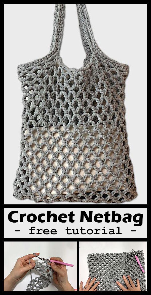 Net Bag Crochet #tricotetcrochet