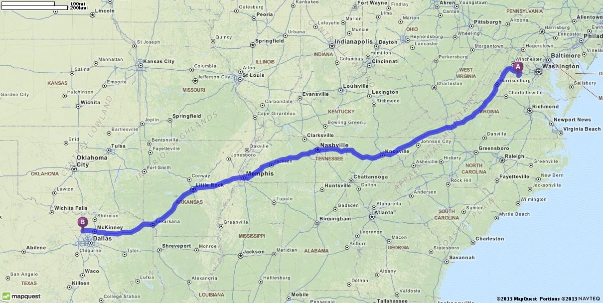 Driving Directions from Virginia 20115 to Denton