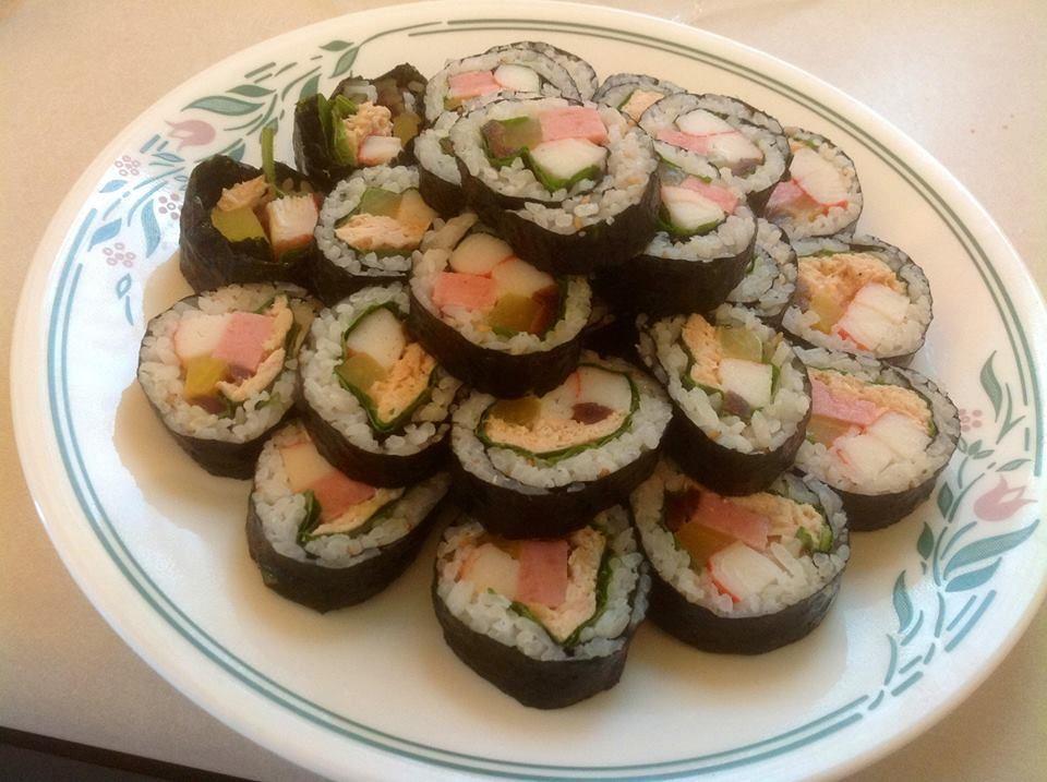 Homemade Korean Kim Bap
