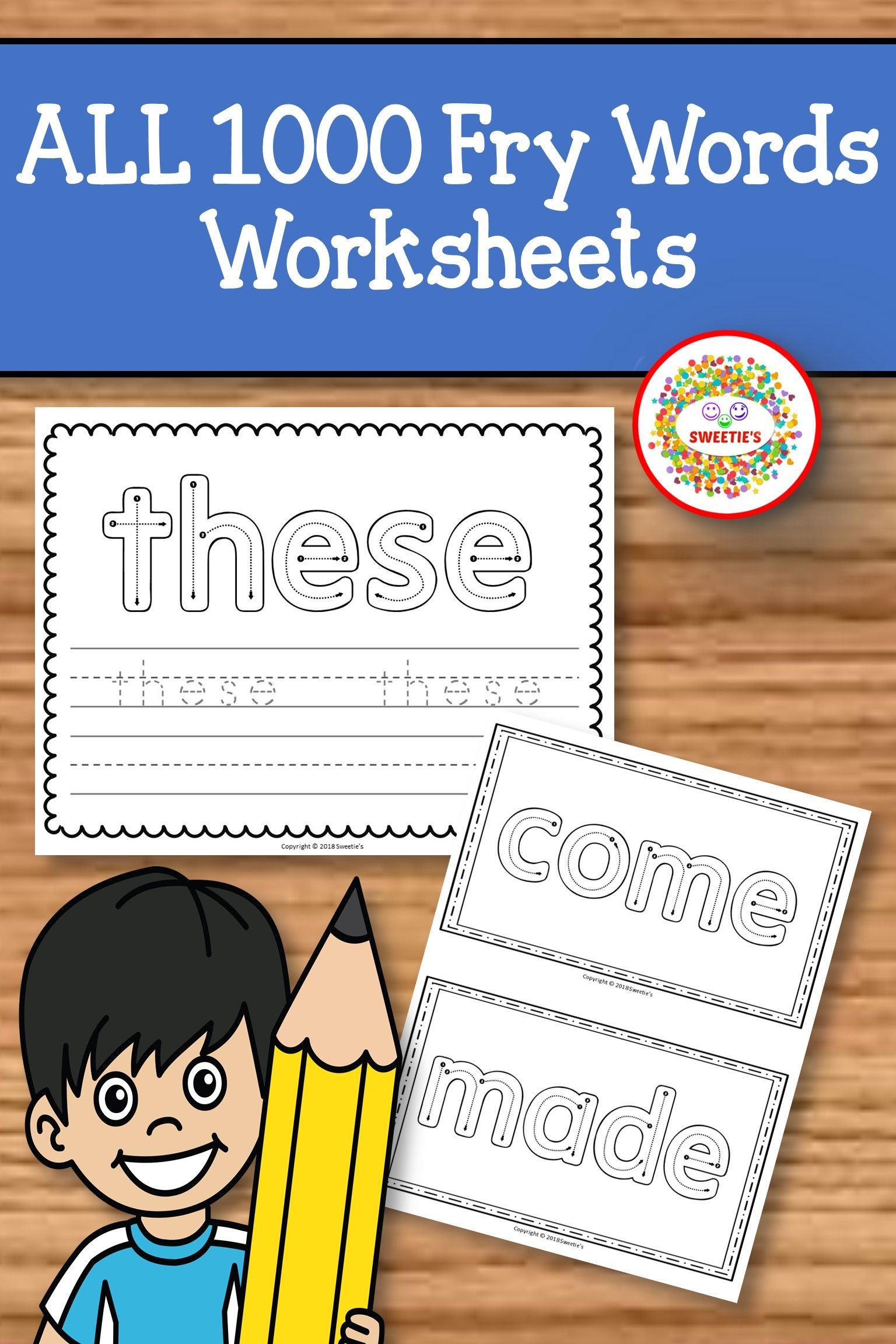 Fry Sight Word Activities Worksheets Trace All Sight