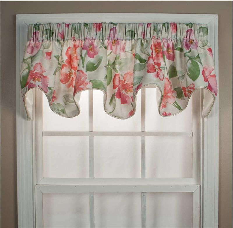 Inexpensive Kitchen Curtain Ideas: Florence Scallop Valance In 2019