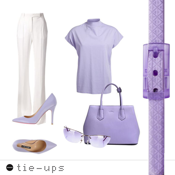 #Fashiontips White and violet: the perfect #outfit for any event.