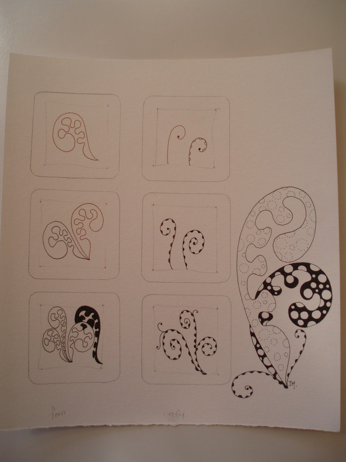 Zentangle pattern - fills space the same way Mooka does but with a
