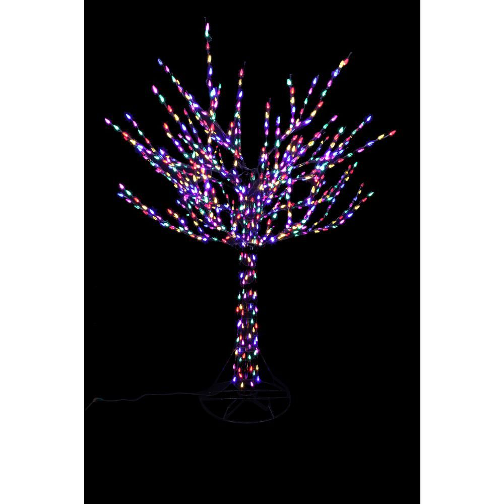 Home Accents Holiday 96 In Led Pre Lit Bare Branch Tree With Multicolor Lights Outdoor Christmas Tree Outdoor Christmas Decorating With Christmas Lights