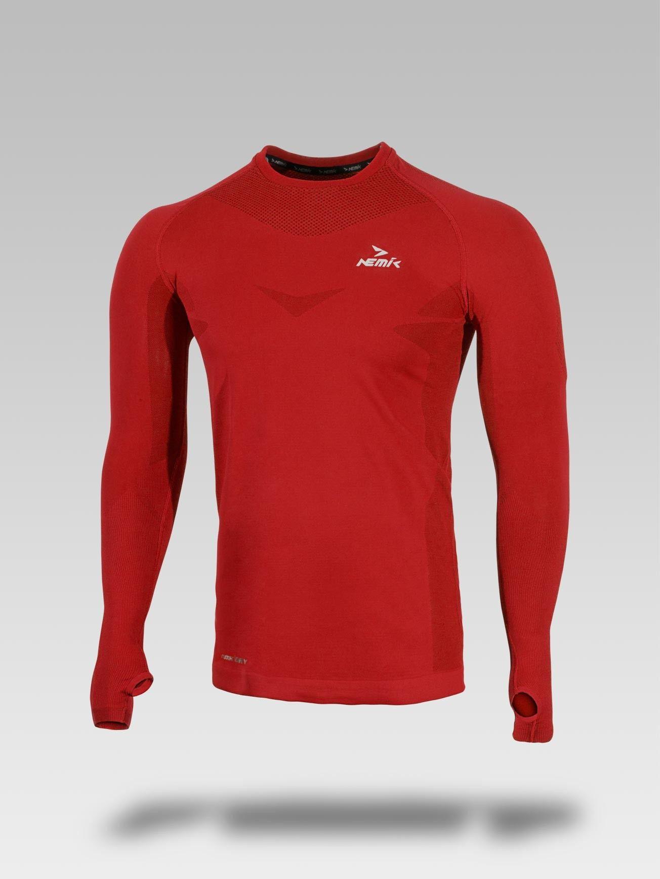 PLAYERA DEPORTIVA MANGA LARGA CABALLERO Nemik  longsleeve  tshirt  red   Nemik ff3b840e2bb00